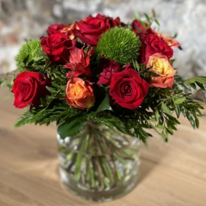 Bouquet rouge orange